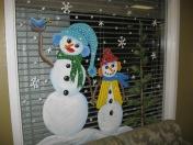 Windows - snowmen bird