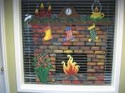 Windows - Chrismas fireplace