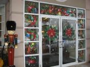 Windows - Poinsettias