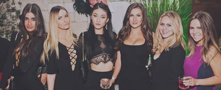 Beautiful girls dress to impress for Le Jardin