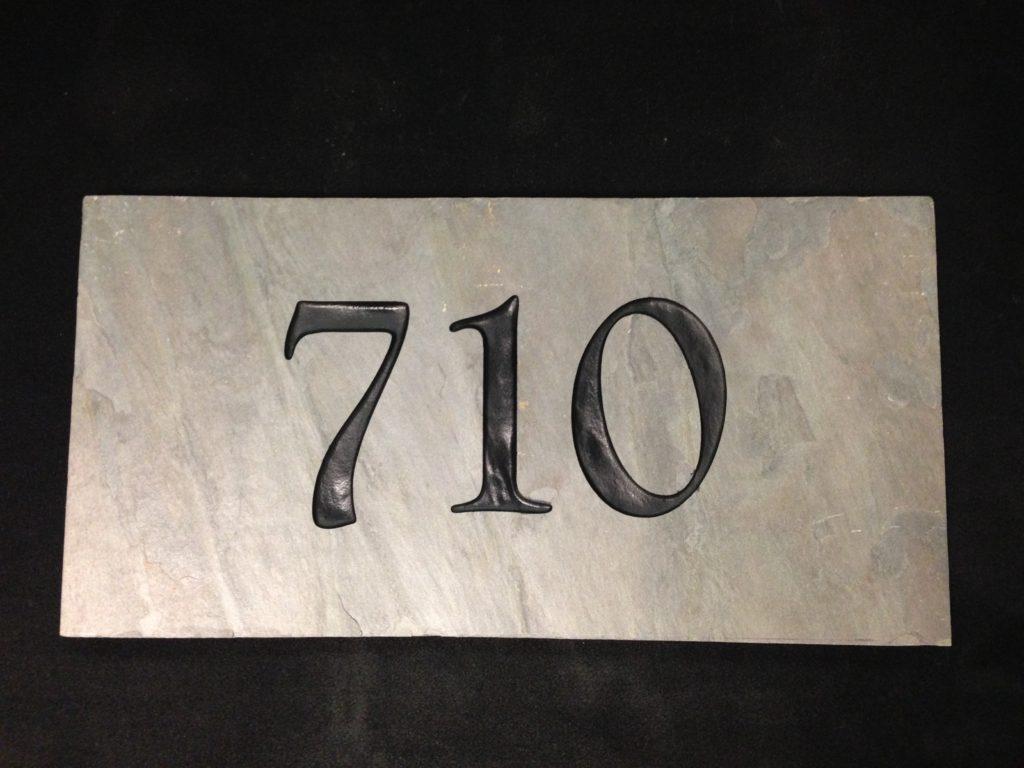 Slate Address tile