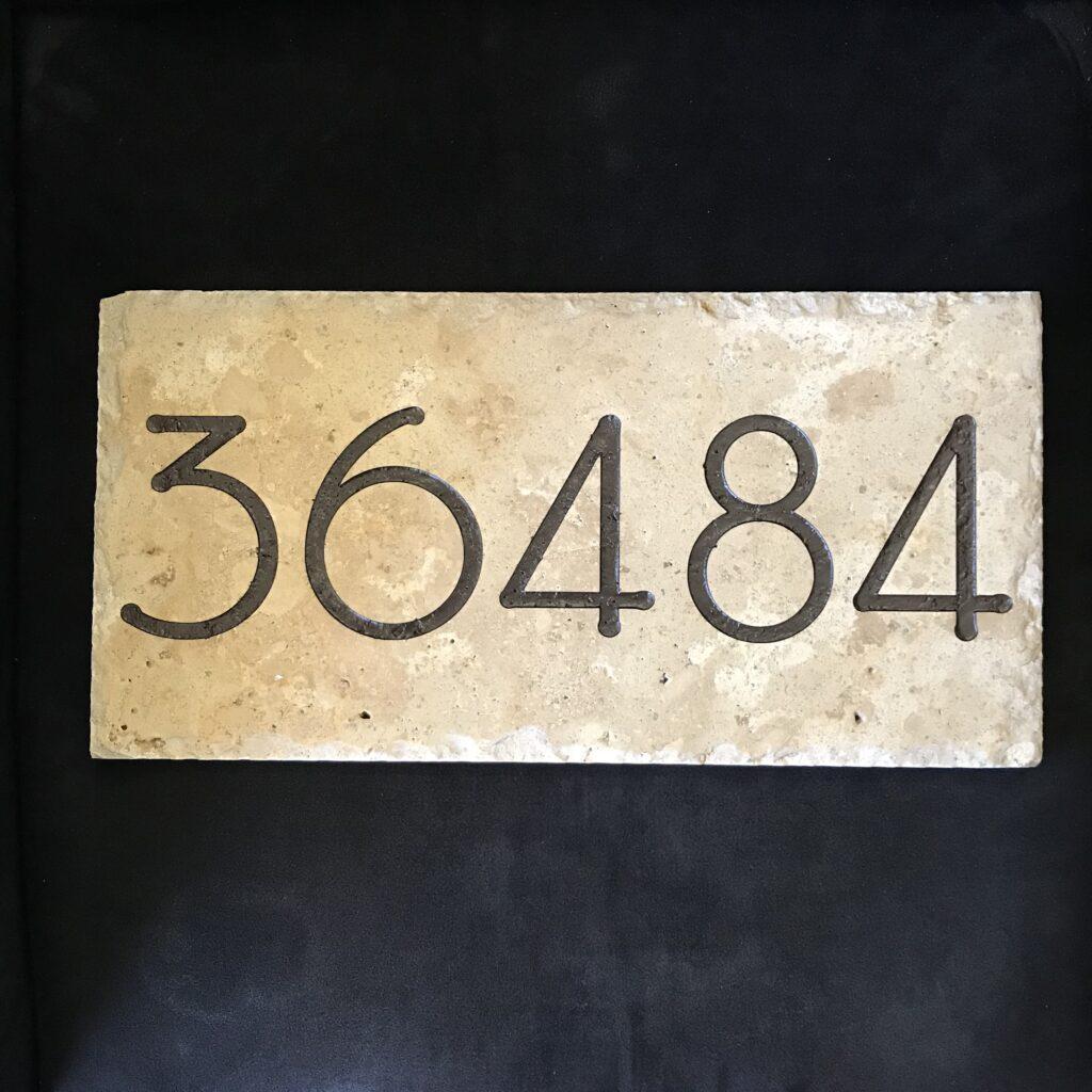 Travertine Address Plaque