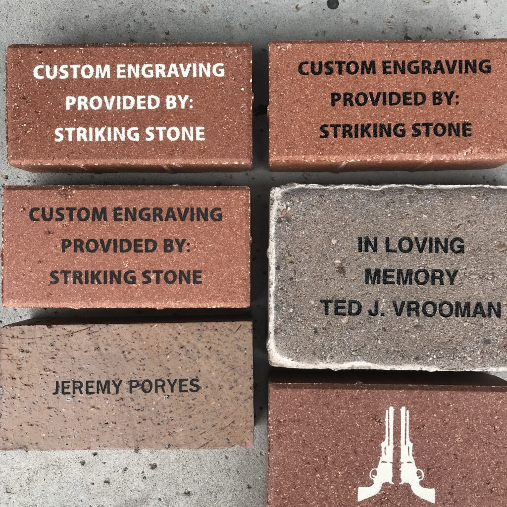 Engraved Pavers and Bricks