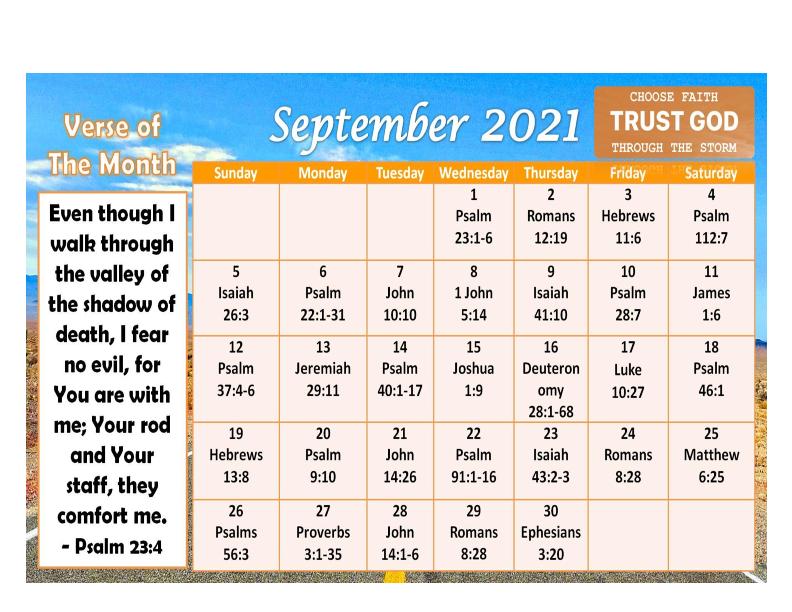 9/21 Calendar