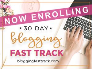 30 Day Blogging Fast Track