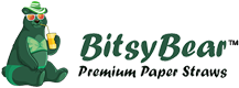 BitsyBear Premium Paper Straws Logo