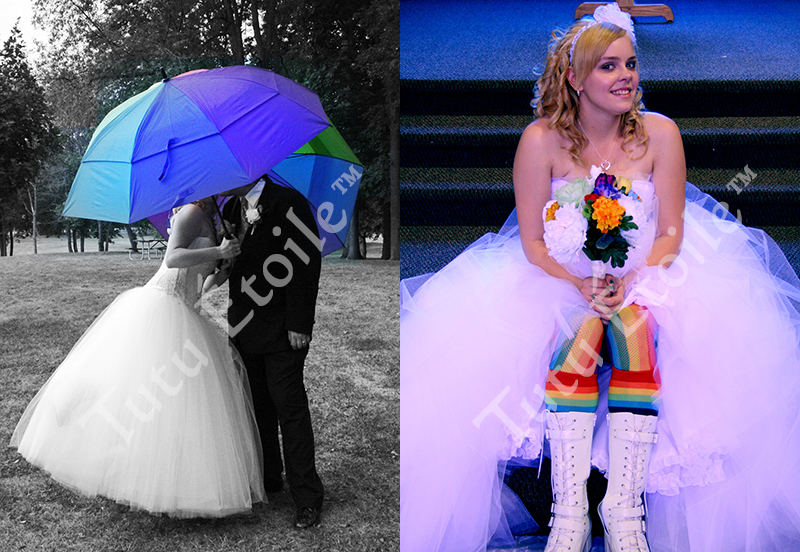 Wedding Skirt, 8 layers and Leah's Rainbow tights