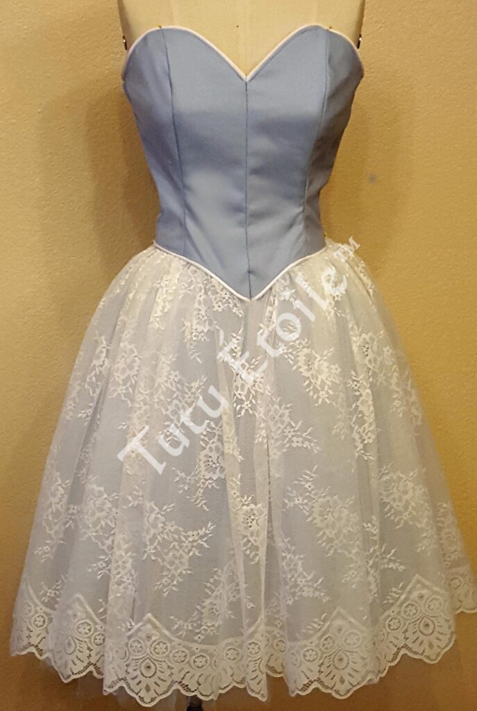 Pale Blue with Ivory Lace
