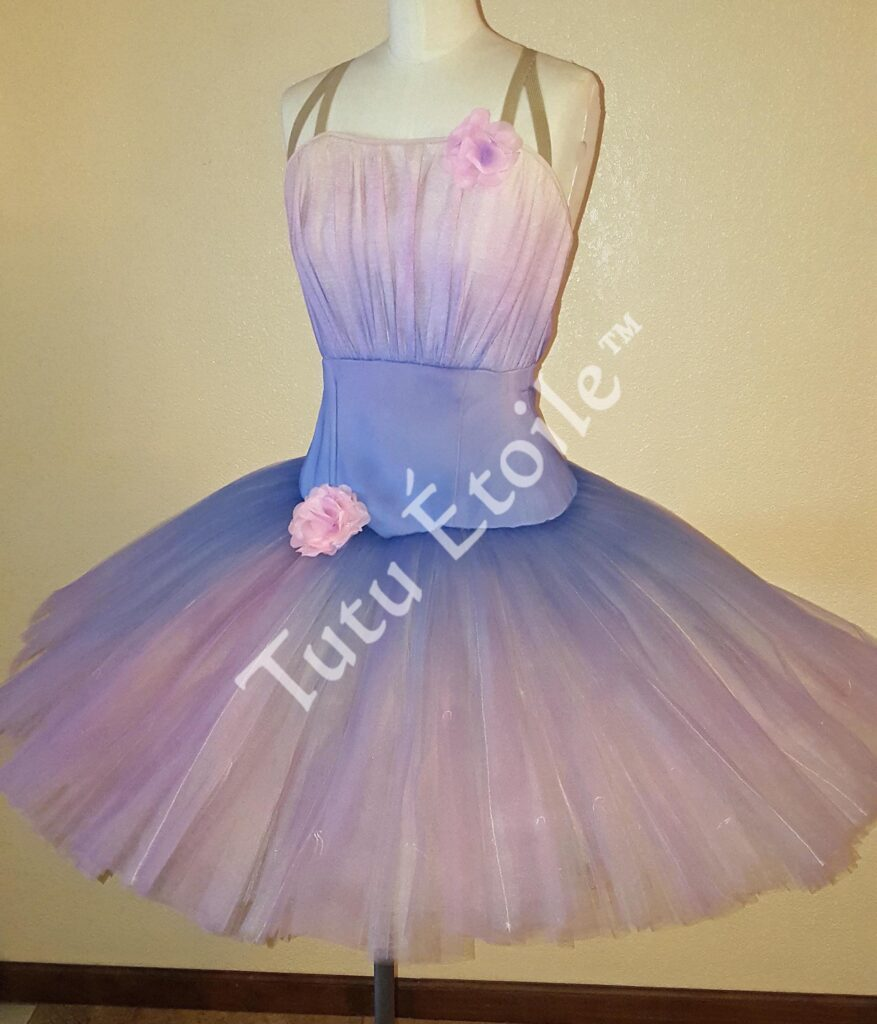 Periwinkle and Pink Airbrushed