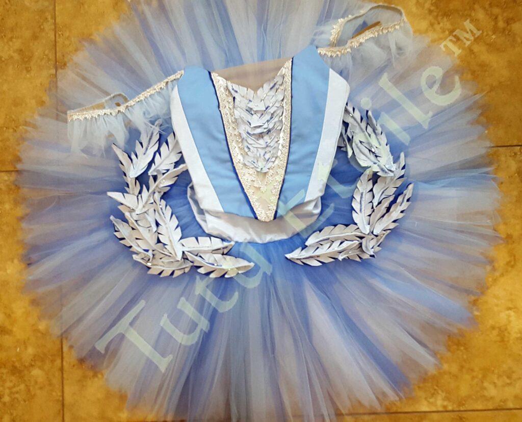 Princess Florine Pale Blue, Navy and White