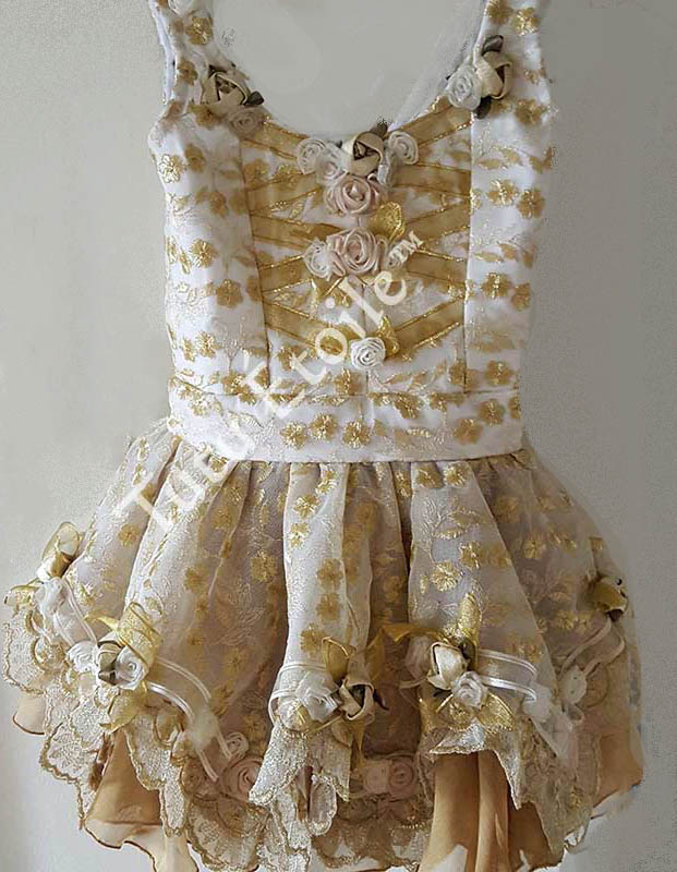 Gold and Ivory Lace