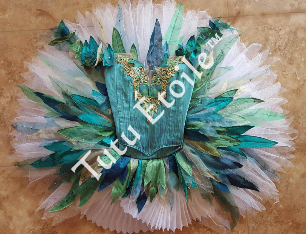 Tinkerbell teal and white