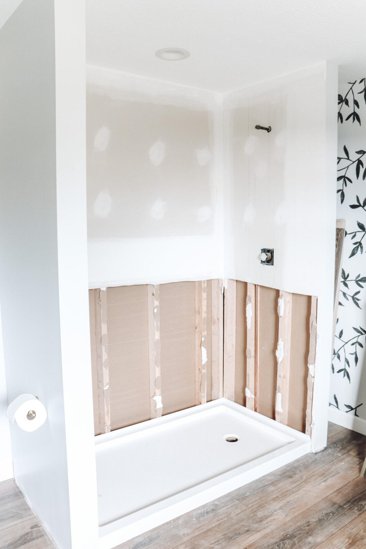 unfinished shower Master Bathroom Remodel