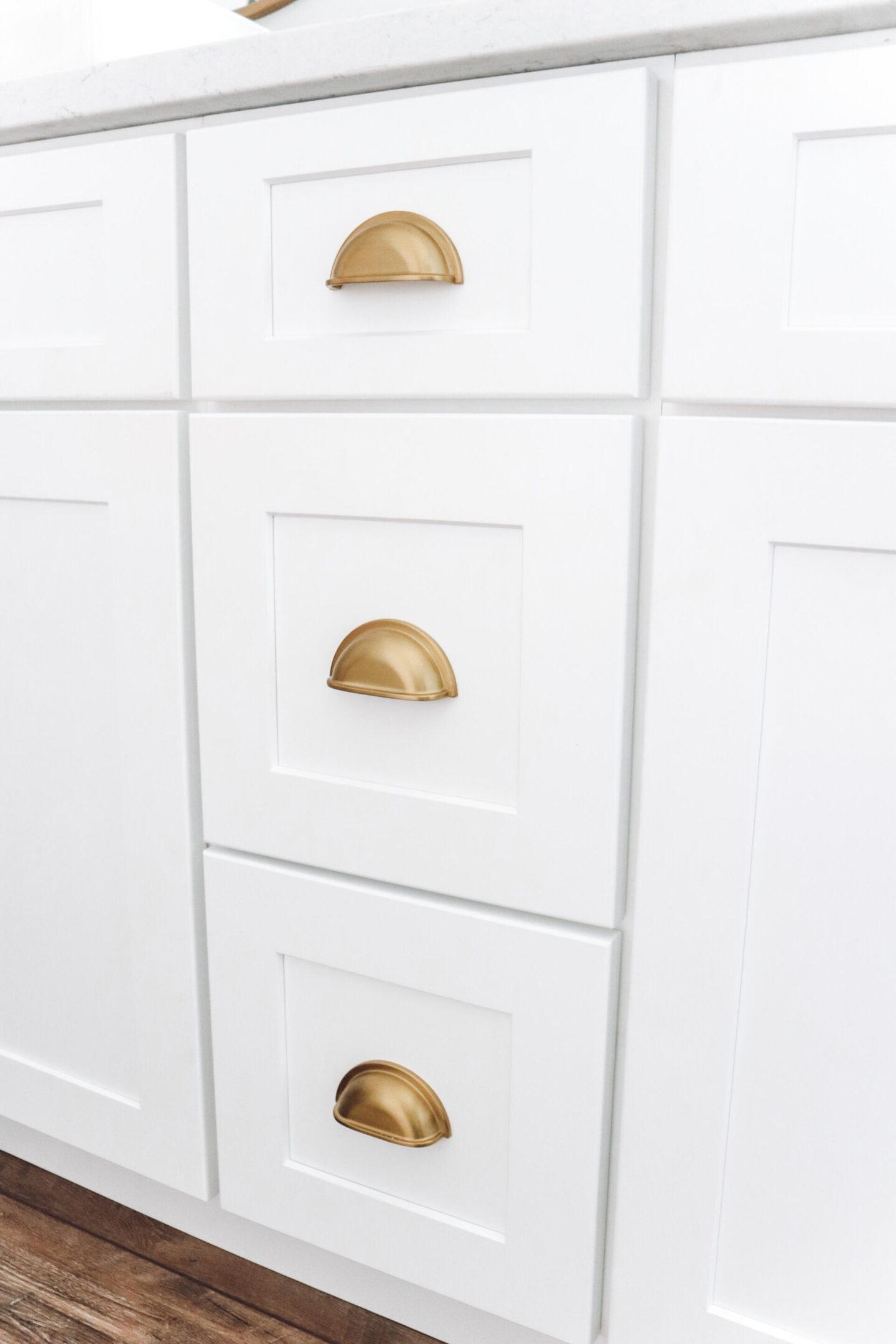gold hardware Master Bathroom Remodel
