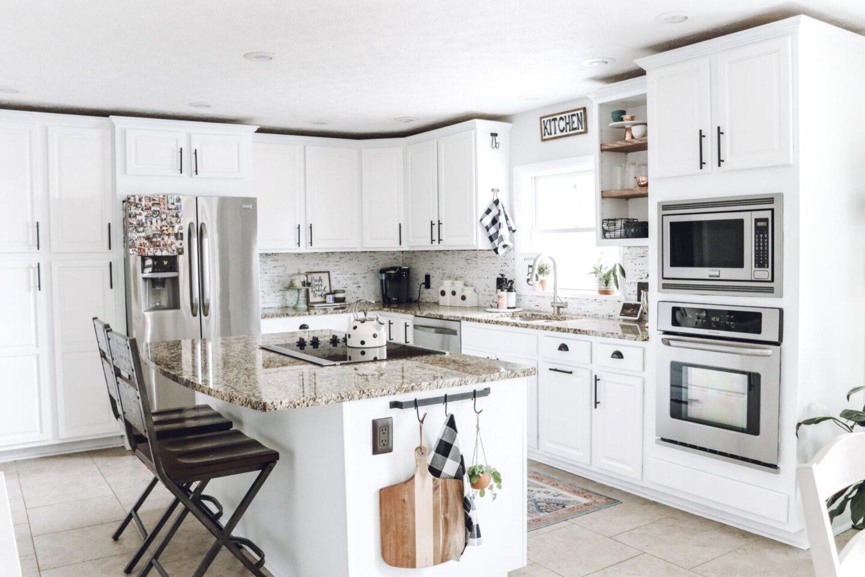 kitchen decor Kitchen Backsplash & Shelf Project