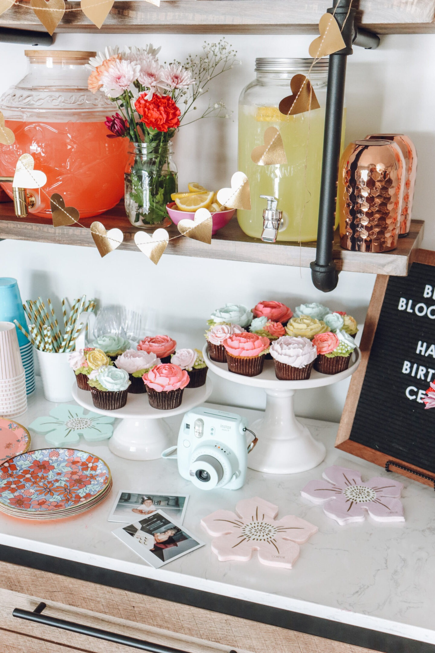 floral birthday party