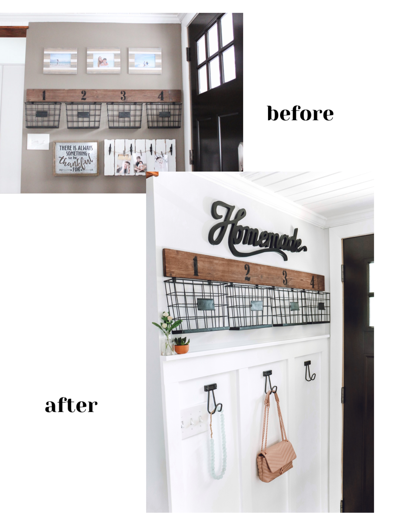 before and after entryway