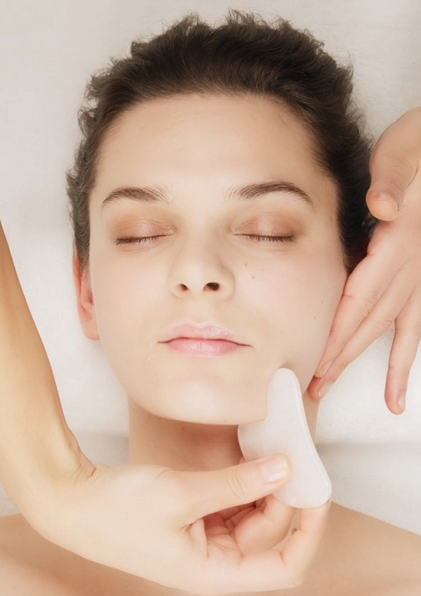 Youthful lady receiving a facial at Newcastle Skin Clinic