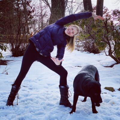 Jessica with dog