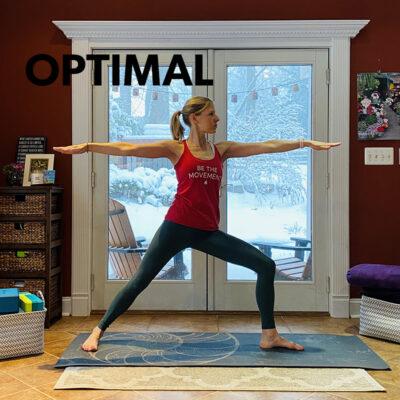 Optimal alignment in yoga
