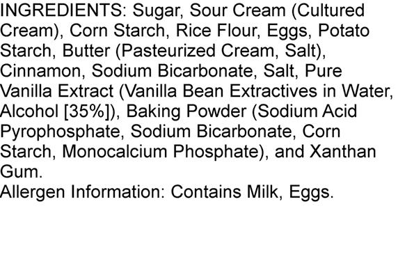 Ingredients Steiner's Coffee Cake