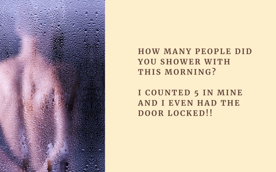 How many people did you shower with this morning?
