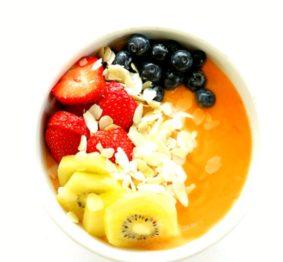 papaya-and-fonio-smoothie-bowl
