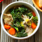 African Blue Basil-Infused Chicken & Kale Soup