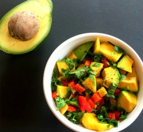 This African-style Mango and Avocado Salsa is the perfect vegetarian side dish and promises a burst of sense-awakening tropical flavours, and a mix of exotic textures.