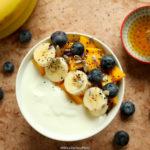 Mango & Banana Yogurt Breakfast Bowl