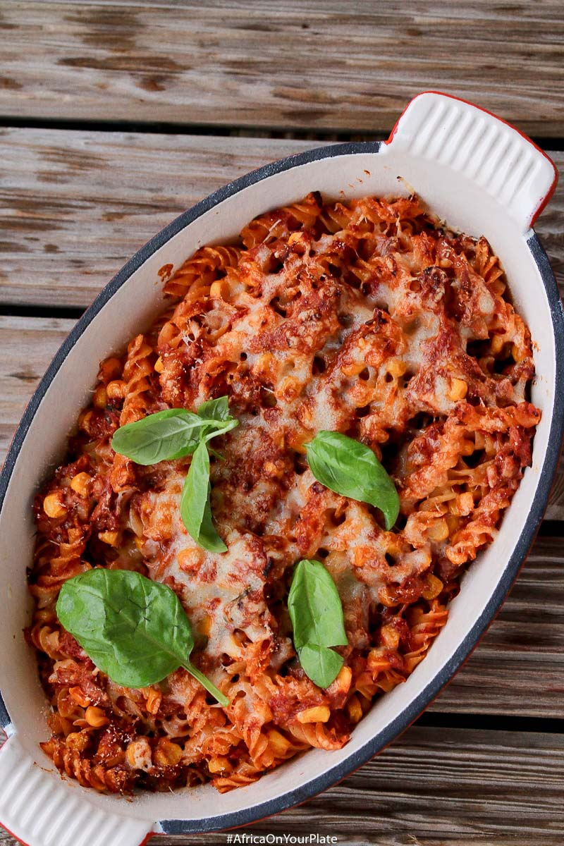 This Jollof Pasta Tuna Bake is an easy-to-make family favourite. Full of flavour and comes together in 30 minutes. It's the perfect family week-day dinner idea.
