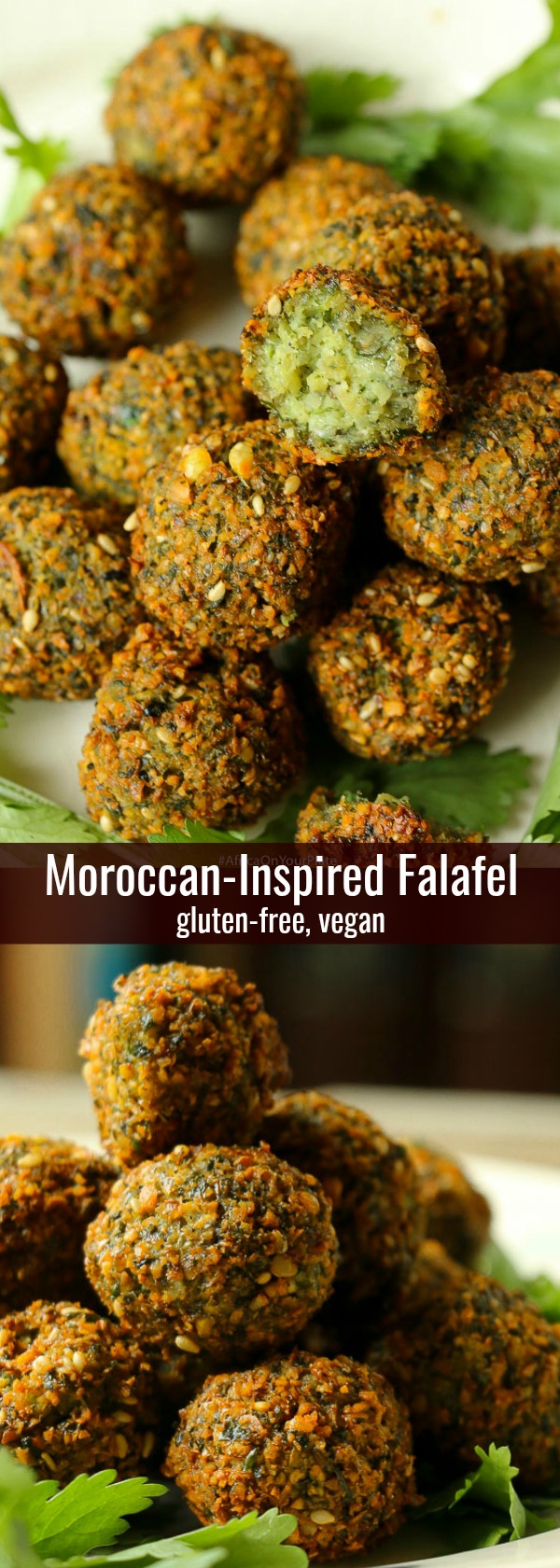 Moroccan Falafel Recipe MAY 1, 2018 This Moroccan-inspired falafel recipe delivers a delicately crispy falafel on the outside with a soft buttery interior. Herbed and spiced to perfection, they are super easy to make. Eat them on their own, or in a falafel salad or as a snack.