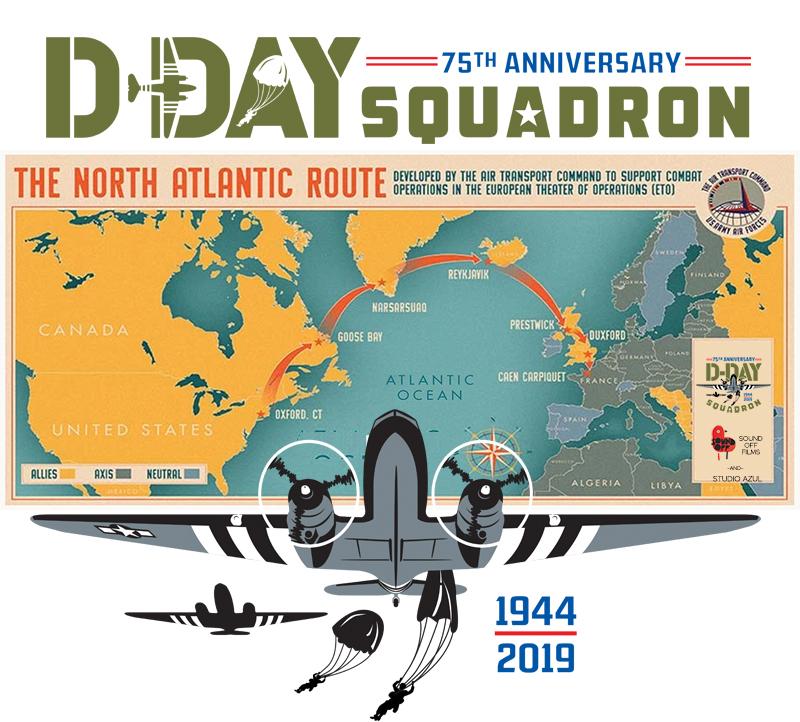 dday-75-squadron-flight-route-2019
