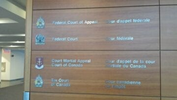 Entrance to Federal Court of Canada