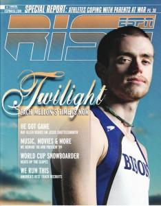 Zach Mellon on the cover of ESPN Rise magazine