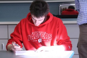 Zach Mellon signs his Letter of Intent for Wisconsin.