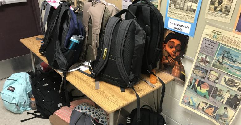Heavy backpacks