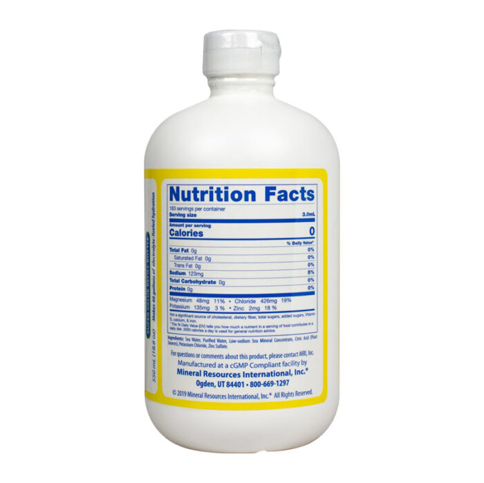 CitriLyte Add-In 18.6oz Facts Panel