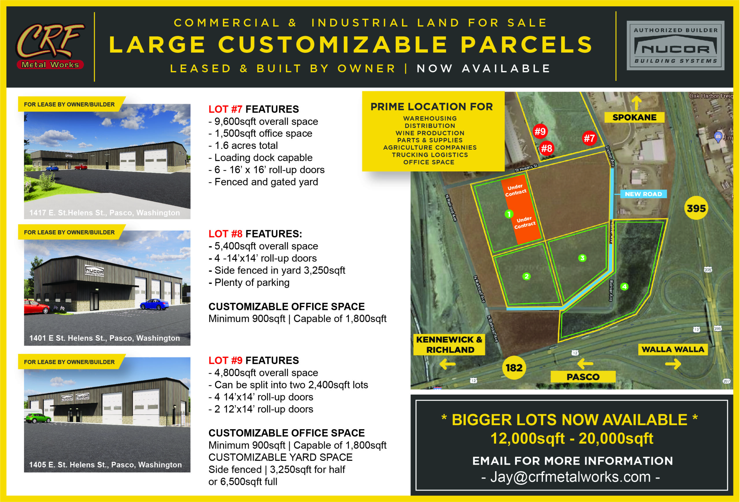 Commercial and Industrial Land For Sale