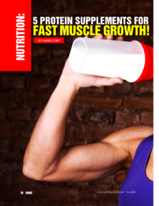 FIVE PROTEIN SUPPS FOR FAST MUSCLE GROWTH!