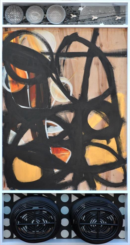 Majesty of Love   Wood, plexiglass, silk screen on canvas   40X80