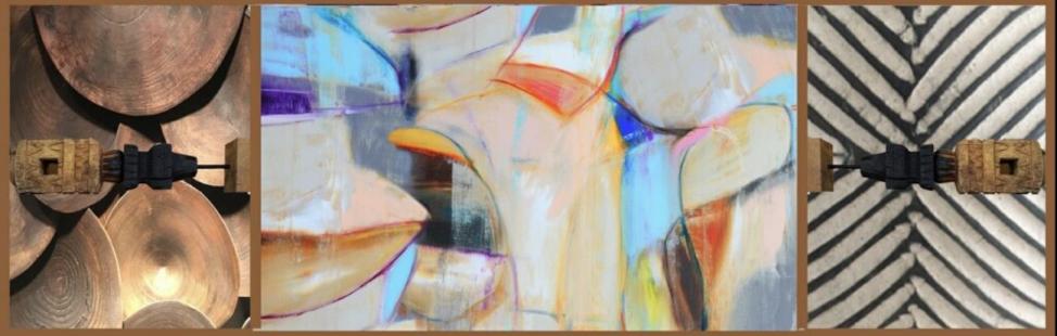 Revelation | Acrylic, oil stick, burnt wood in wood box with plexiglass | 80x25