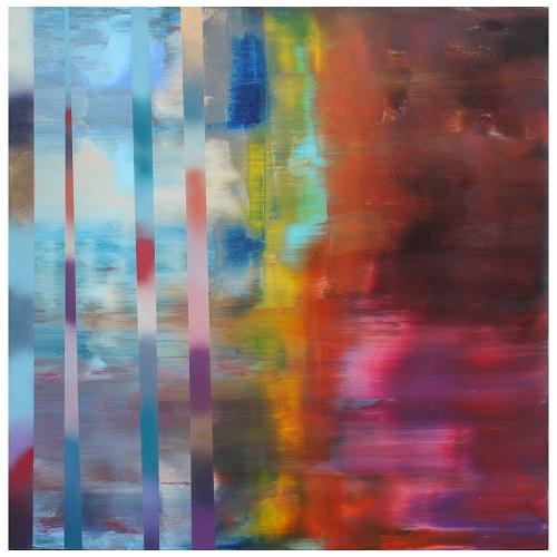 Stillness into Bliss   Acrylic on canvas   48x48