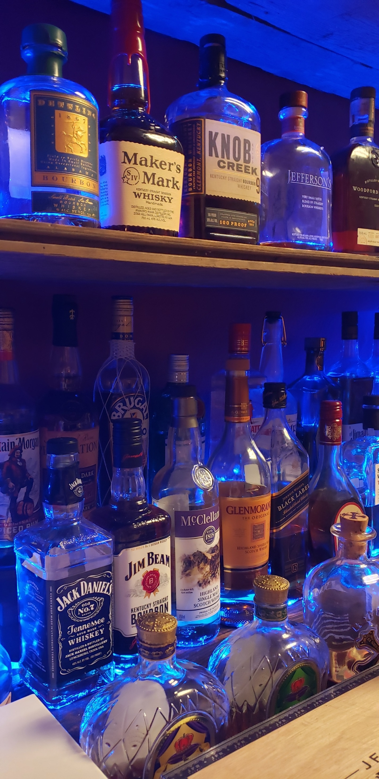 Photo of the drink selection available at our fully-stocked bar.