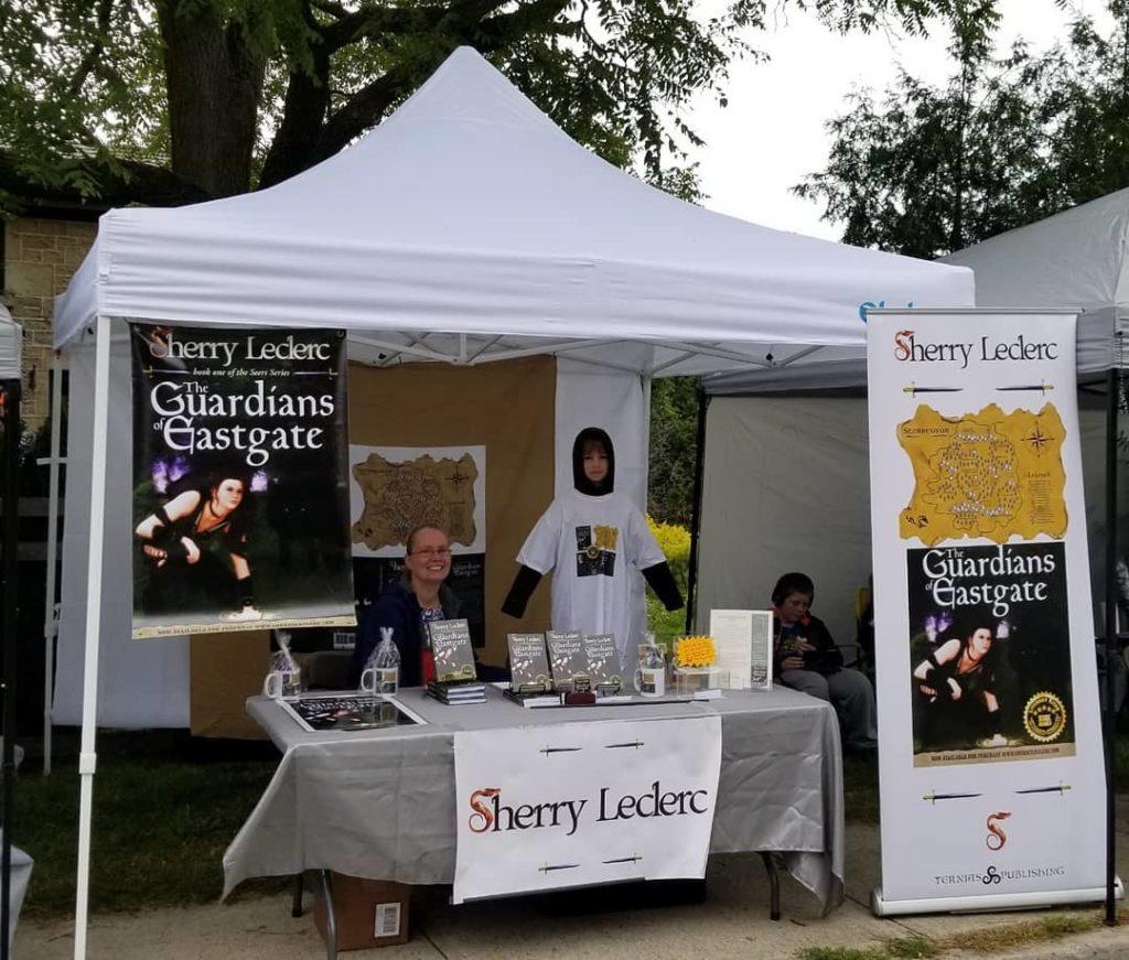 Booth at the Eden Mills Writers' Festival, Eden Mills, Ontario
