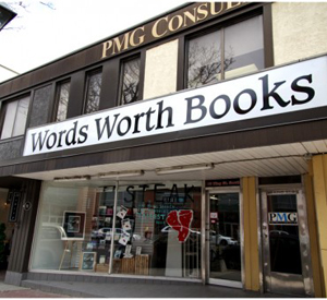 Words Worth Books in Waterloo, ON carries copies of my book