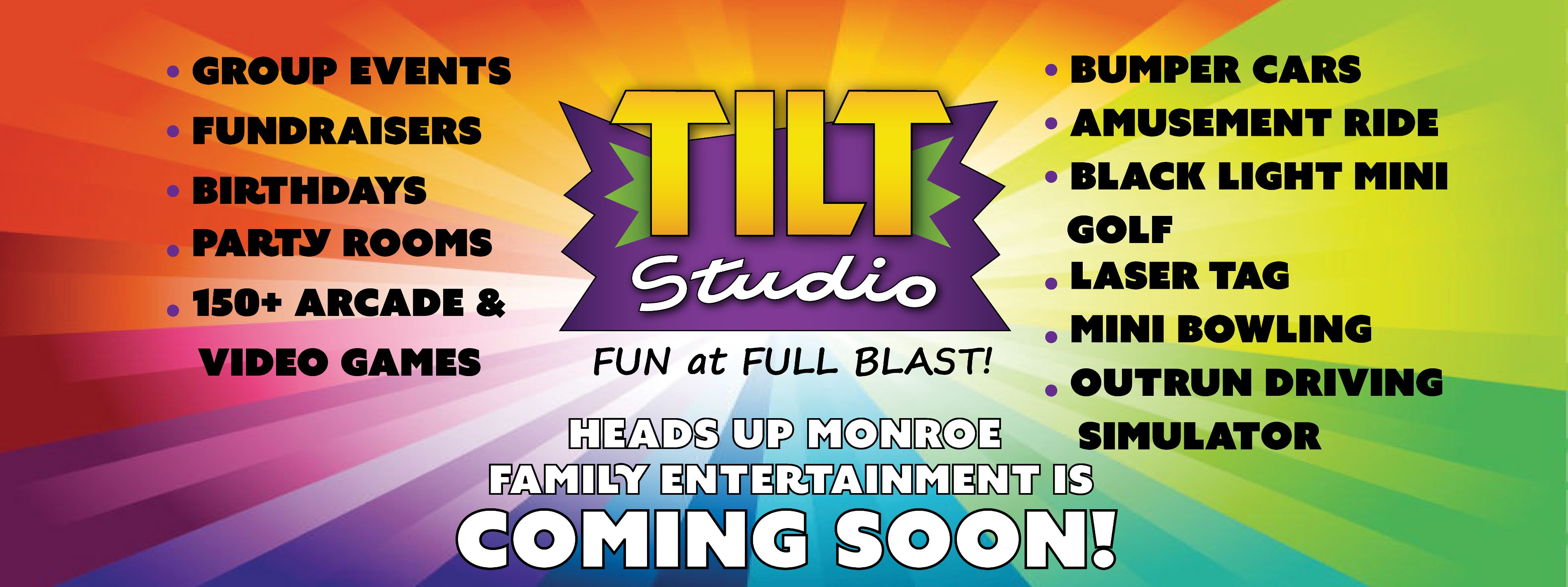 Coming Soon Tilt Studio Monroe LA
