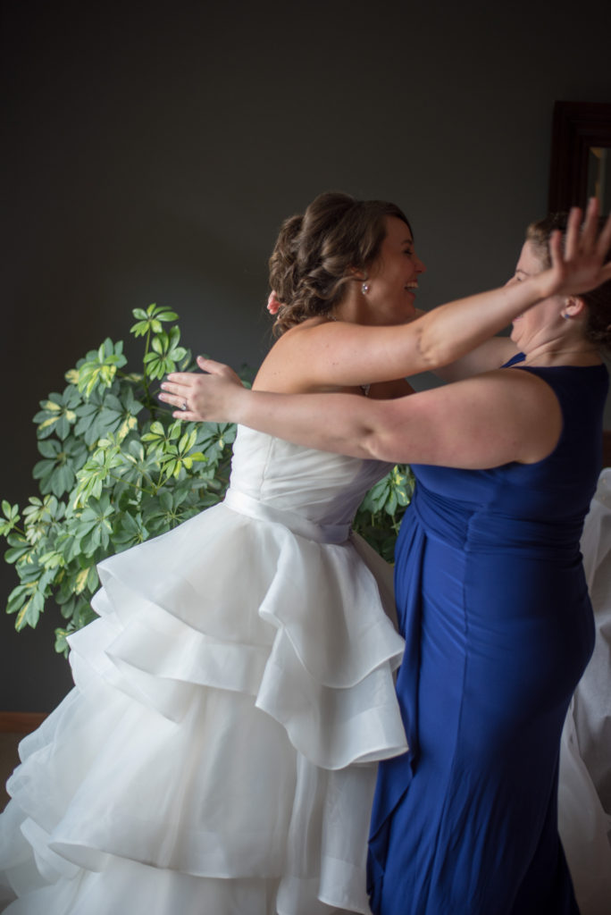 Bride Reveal to the maid of Honor