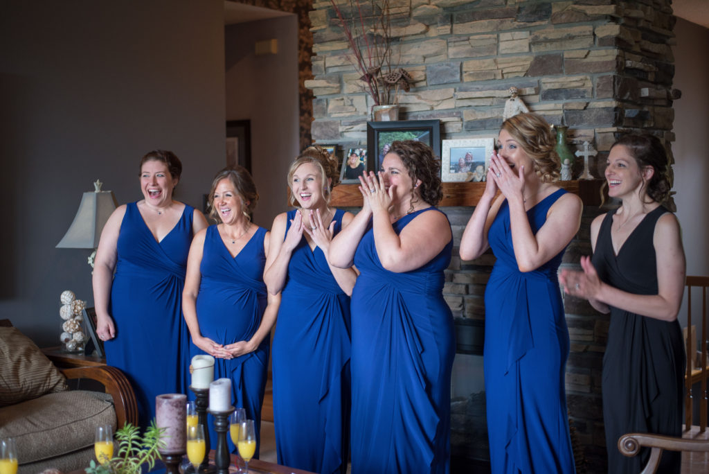 Reveal to the bridesmaids