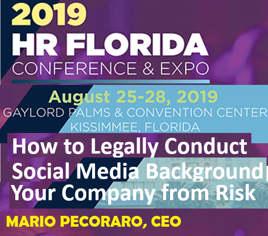 CEO Mario Pecoraro to Speak at Florida SHRM Conference on Social Media Background Investigations